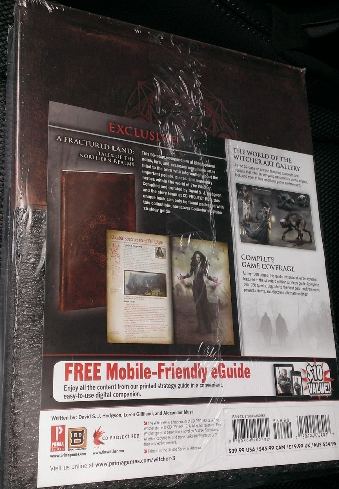 livre guide the witcher 3